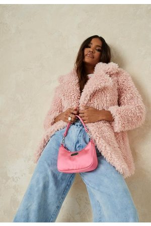 Missguided Petite Curly Borg Teddy Coat