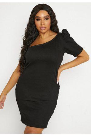 Missguided Plus Size One Sleeve Denim Mini Dress