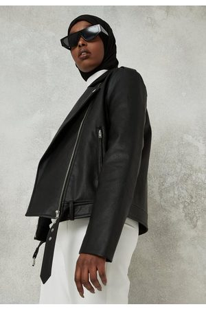 Missguided Faux Leather Boxy Biker Jacket