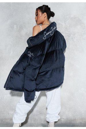 Missguided Sean John X Premium Velour Oversized Puff-A Coat