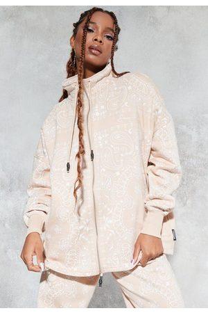 Missguided Sean John X Bandana Print Zip Sweatshirt