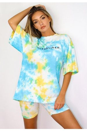 Missguided Tie Dye T Shirt And Shorts Co Ord Set