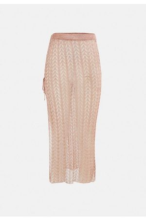 Missguided Co Ord Metallic Chain Knit Maxi Skirt