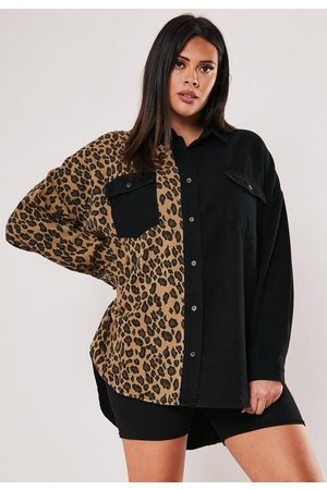 Missguided Plus Size Leopard Print Denim Shirt