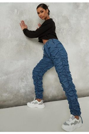 Missguided Ruched Front Jogger Jeans