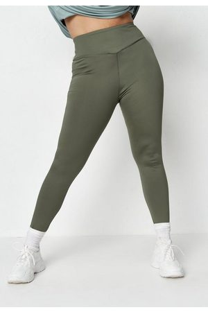 Missguided Plus Size Khaki Msgd Gym Leggings