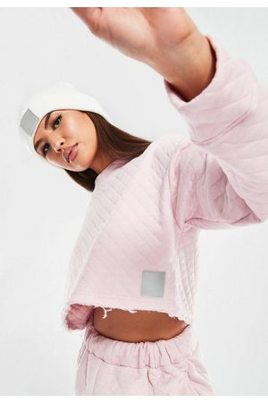 Missguided Msgd Ski Reflective Branding Quilted Sweatshirt