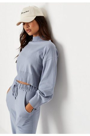 Missguided Co Ord Crew Neck Cropped Sweater