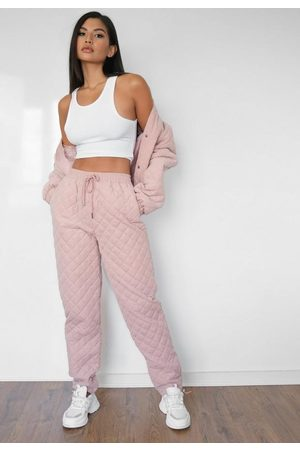 Missguided Co Ord Diamond Quilted Joggers