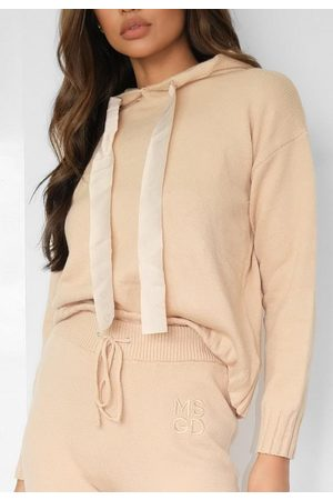 Missguided Tall Sand Co Ord Knit Hoodie