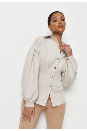 Missguided Stretch Twill Corset Shirt