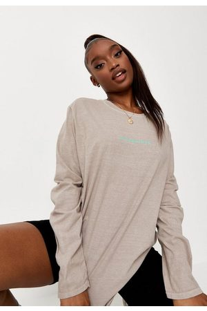 Missguided Sand Long Sleeve T Shirt