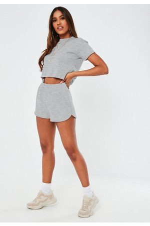 Missguided Gray Runner Shorts
