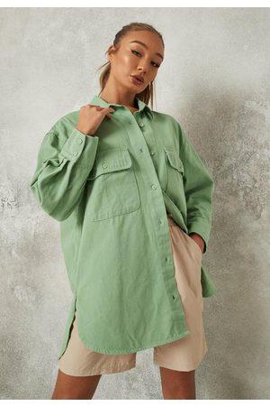 Missguided Women Denim - Oversized Denim Shirt