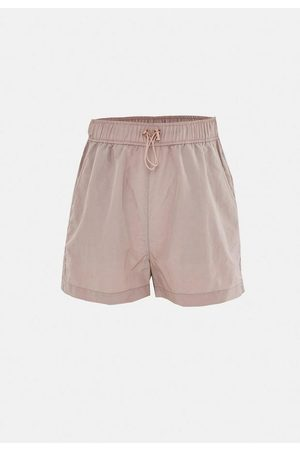Missguided Mocha Co Ord Tonal Drawstring Windbreaker Shorts