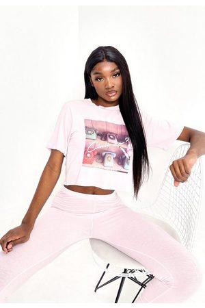 Missguided Call Me Graphic T Shirt Pyjama Set