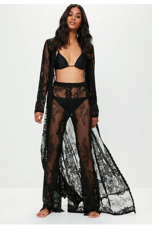 Missguided Premium Lace Beach Pants