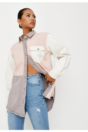 Missguided Colorblock Oversized Denim Shirt