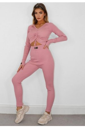 Missguided Tall Pink Co Ord Msgd Loungewear Joggers