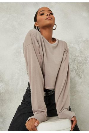 Missguided Tall Mauve Cropped Sweatshirt