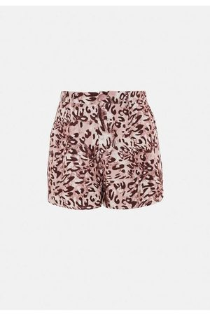 Missguided Leopard Print Co Ord Tailored Runner Shorts