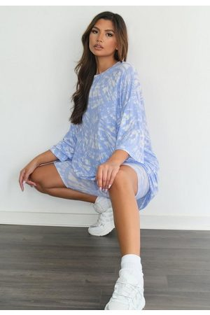 Missguided Tall Tie Dye T Shirt And Biker Shorts Co Ord Set