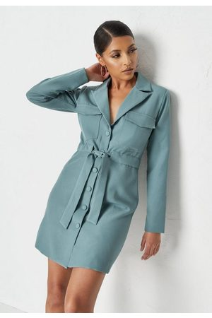 Missguided Belted Tailored Utility Blazer Dress