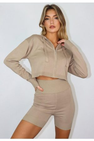 Missguided Co Ord Knit Zip Hoodie