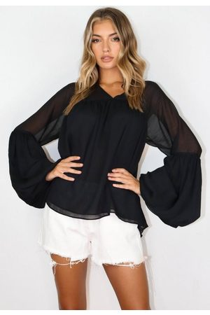 Missguided Women Tops - Tiered V Neck Smock Top