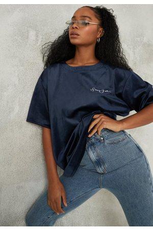 Missguided Sean John X Velour Oversized T Shirt