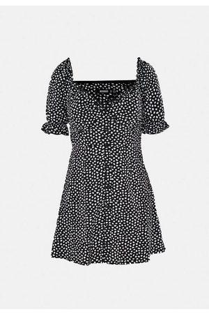 Missguided Dalmatian Print Milkmaid A Line Mini Dress