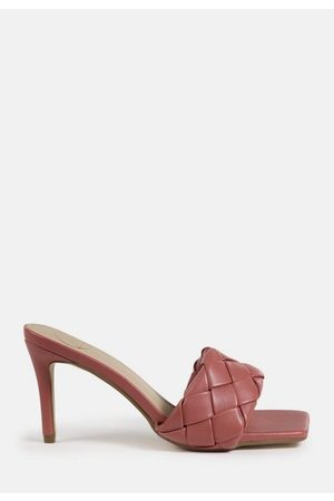 Missguided Terracotta Square Toe Woven Mules