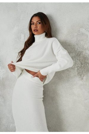 Missguided Recycled Seam Front Turtle Neck Knit Sweater