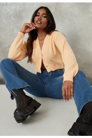 Missguided Women Cardigans - Basic Cropped Knit Cardigan