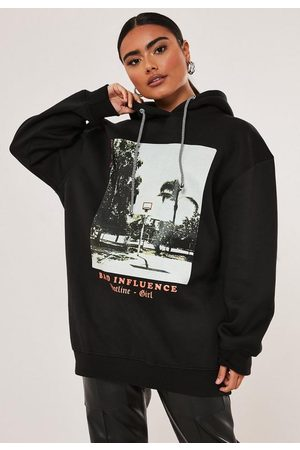 Missguided Petite Bad Influence Graphic Hoodie