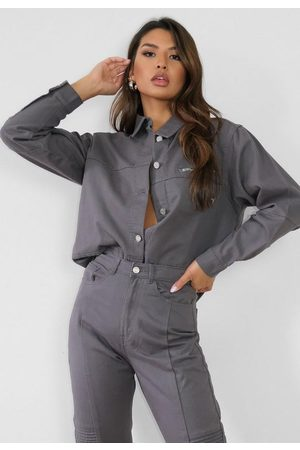Missguided Co Ord Utility Denim Shirt