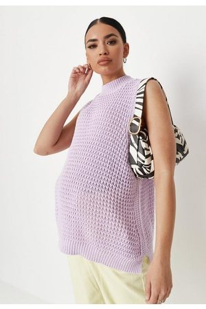 Missguided High Neck Knit Maternity Tank Top
