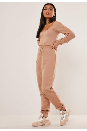 Missguided Tall Scoop Neck Long Sleeve Jogger Romper