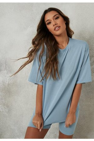 Missguided Oversized T Shirt And Biker Shorts Co Ord Set