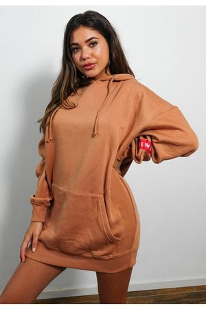 Missguided Hooded Brushed Back Sweater Dress
