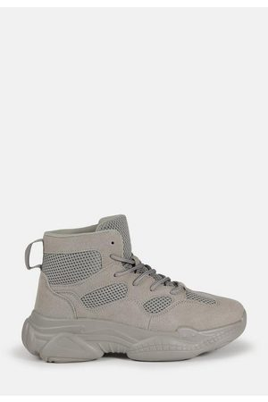 Missguided Women Sneakers - Gray High Top Bubble Sole Sneakers
