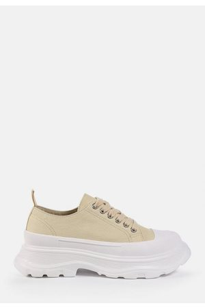 Missguided Sand Chunky Canvas Sneakers