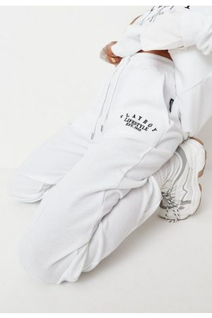 Missguided Playboy X Lifestyle Waffle Balloon Joggers