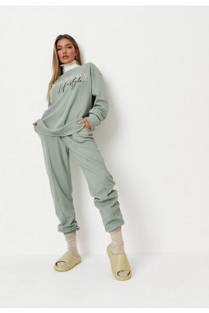 Missguided Playboy X Khaki Lifestyle Waffle Balloon Joggers
