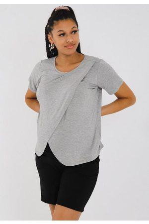 Missguided Gray Maternity Nursing T Shirt