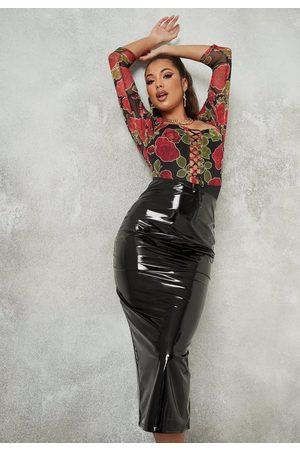 Missguided Vinyl Midi Skirt