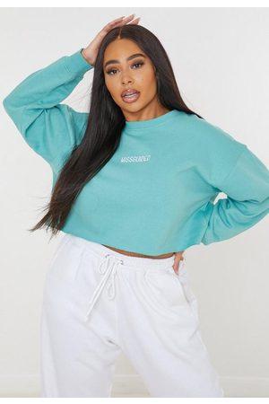 Missguided Plus Size Cropped Brushed Back Sweatshirt