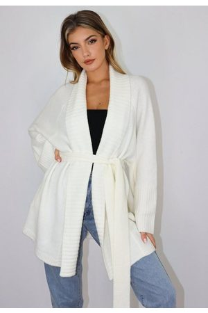 Missguided Women Cardigans - Belted Long Knit Cardigan