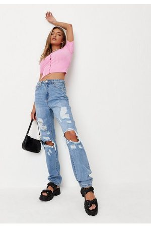 Missguided Women Jeans - Wrath Shredded Distressed Jeans