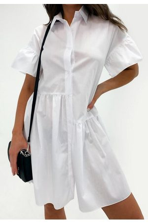 Missguided Tiered Shirt Smock Dress